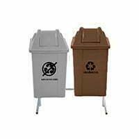 kit de lixeiras para lixo reciclável 2 cesto de 100L